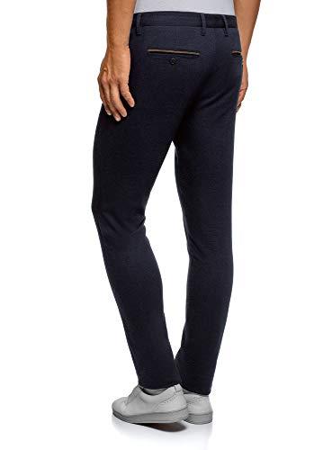 Uomo In Oodji Chino Pantaloni Ultra Cotone Blu7975o m80vnNwO