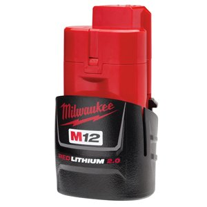 Milwaukee (2-Pack) 48-11-2420 M12 REDLITHIUM 2.0 Compact Battery Packs ()
