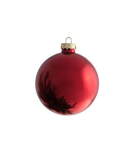 Vetro Soffiato Rosso Metallizzate e Satinate 37 x 38 x 31 cm Moranduzzo 580007500 12 Palle di Natale