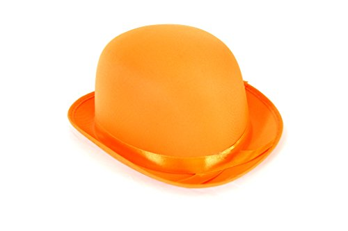 Dress Up Party Costume BOWLER Hat (Orange) -