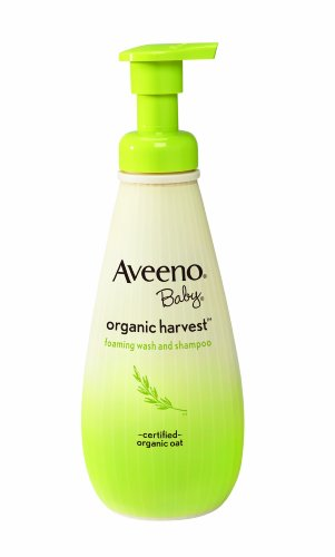 Aveeno Baby Organic  Harvest Wash and Shampoo, 8 (Over Foaming Baby Wash)