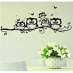 Clearance! Willtoo Kids Vinyl Art Cartoon Owl Butterfly Wall Sticker