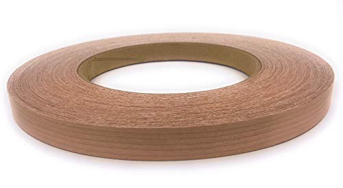 oll Preglued, Wood Veneer Edge Banding, Flexible Wood Tape, Easy Application Iron On with Hot Melt Adhesive. Smooth Sanded Finish Veneer Edging. Made in USA. ()
