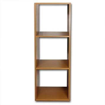 Regal 4 Fächer mit Rollen oder Regal 3 Fächer (Regal Holz 3 Fächer ...