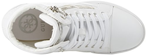 Blanc Lady Footwear Femme Active Bianco White Guess Baskets White Hautes v0dwcgEq