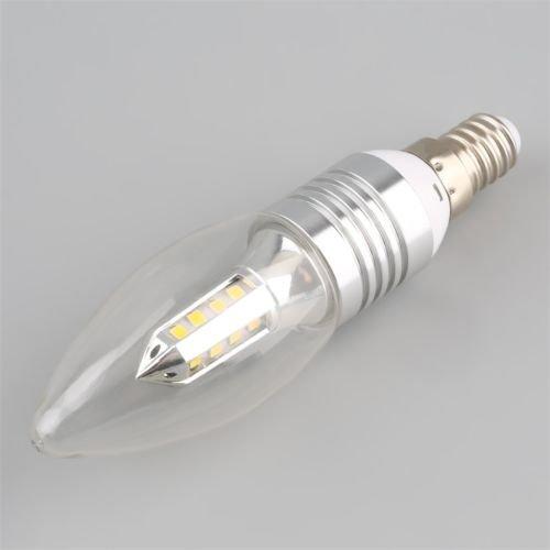 Chandelier Light Candlelight (Alicenter(TM) High CRI 4W Sliver LED Tip Candle Light Warm White Lamp Chandelier Bulb H)