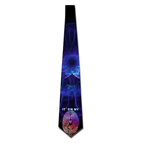 Violin Player DNA Men Necktie Classic Silk Tie Woven Jacquard Neck Ties ()