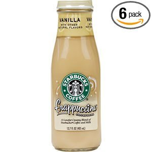 Starbucks Coffee Frappuccino Coffee Drink, Vanilla Flavor, 13.7 fl. oz. (Pack of 6) by Starbucks