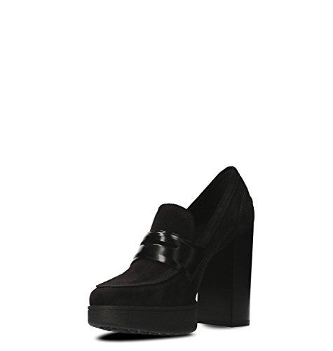 XXW41A0U370H8B999 Suède À Noir Femme Talons Chaussures Tod's HqxAv5v