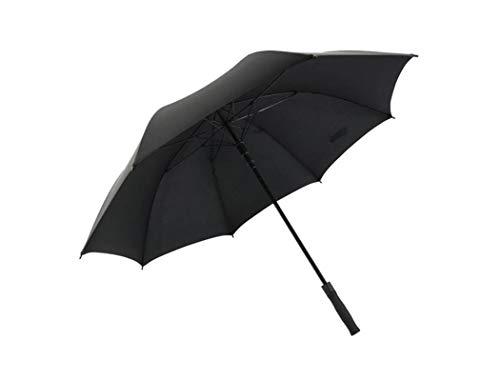 Handle Full Length Reinforcement Rib - Umbrella, Full Fiber Fold Large Windproof Sun Protection Reinforcement Windproof Anti-UV (Color : Black)