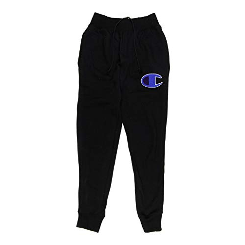 (Champion LIFE Men's Reverse Weave Jogger, Black/Mesh & Leather C Logo, XX-Large)