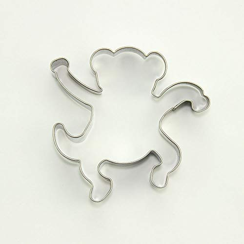 - 2 Pieces Metal Biscuit Cookie Cutter Pastry Fondant Gingerbread Cake Mold O4TT7 Monkey