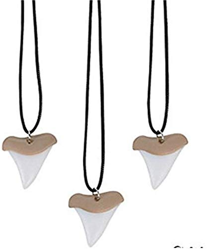 (FX Shark Tooth Replica Necklaces, 24 Count)