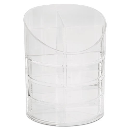 Small Storage Divided Pencil Cup, Plastic, 4 1/2 dia. x 5 11/16, -