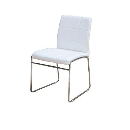 Silla de comedor Cube, sillas, sillas cocina blanco: Amazon.es: Hogar
