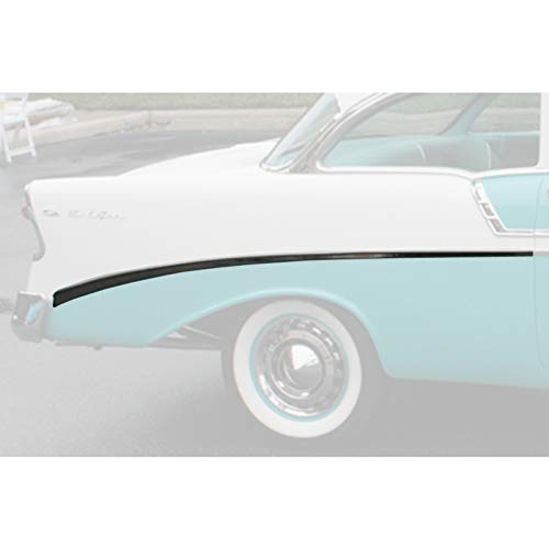Eckler's Premier Quality Products 57-360208 Chevy Rear Quarter Panel Molding, Bel Air, Right, For 2-Door, Show - Quarter Air Panel