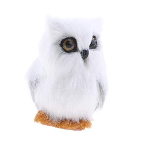 Garden Statues & Sculptures - Artificial Animal White Owl Home Decoration Gift Toy Handcraft Realistic - Cat Sculptures Anime Peac Life Owl Doll Garden School Bambi Decor White Movie Dab Is