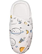 Baby Swaddle Wrap, 100% Cotton with Neck and Head Support, Soft, Breathable and Comfortable; Baby Blanket, Adjustable with Stroller (0-8 Months)