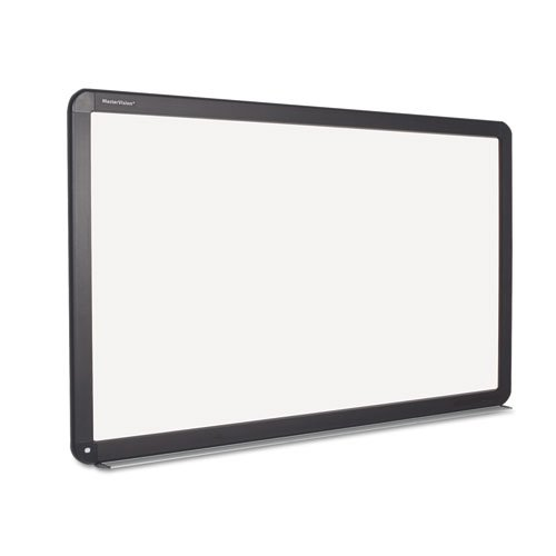 MasterVision Interactive Magnetic Dry Erase Board, 90'' x 52-7/10'' x 4-1/5'', White/Black Frame (BVCBI1591802) by MasterVision