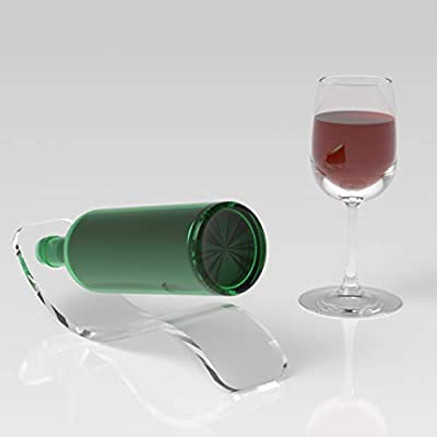 Wine Rack//Acrylic Wine Bottle Holder//Wine Bottle Display//Gift Idea