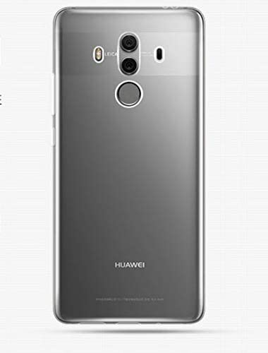 iCoverCase Compatible with Huawei Mate 10 Pro Case, Ultra-Thin Silicon Back Cover [Clear Transparent] Lightweight Protective Soft TPU Case for Huawei ...