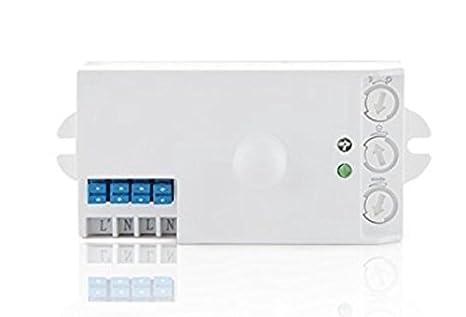 (LA) Sensor de movimiento y detector de presencia por microondas 360 grados, 9 m de alcance, 1200 W: Amazon.es: Iluminación
