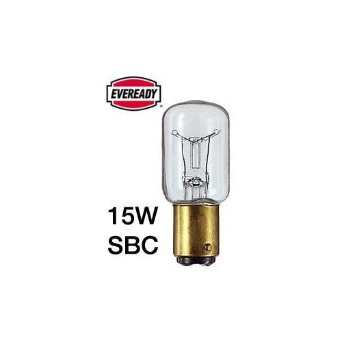 10x Eveready Pygmy Fridge Freezer 15W (SBC) Appliance Lamp - Branded