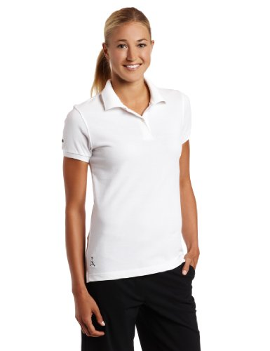 PING Women's Eagle Short Sleeve Polo, White, Medium
