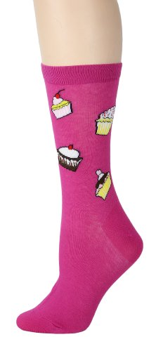 Foot Traffic, Food Women's Socks, Cupcakes