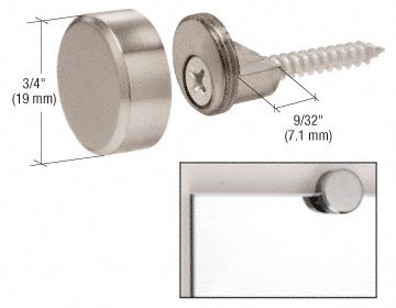 CRL Brushed Nickel Round Mirror Clips - - Clip Round