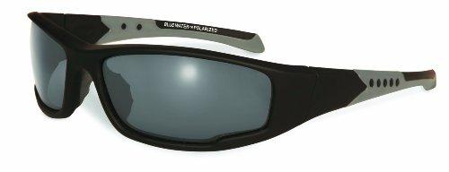 400 Series Matte - BluWater Daytona 3 Series Polarized Sunglasses, Smoke Lens, Matte Black Frame