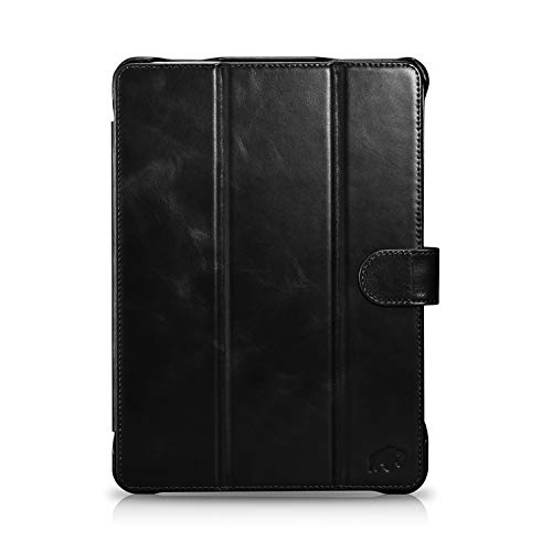 """Burkley Case Turner Premium Genuine Leather Smart Leather Folio Cover with Magnetic Flap Compatible with Apple iPad Pro 11"""" (2020 Version, 2nd Gen) (Black)"""