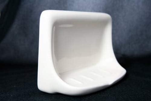 White Ceramic Porcelain Soap Dish