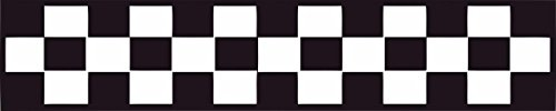 Race Flag Image- Racing Fast Cars Finish Motors Mechanical line Flags Vinyl Wall Sticker Decal for Home Garage Tailor Shop Pit Crew Decor Racing Race Car Motor Sports NASCAR - 35x7 inch Color: Black