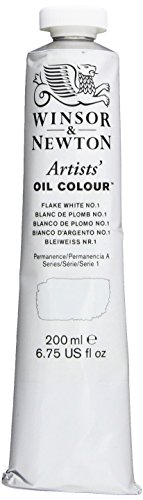 Winsor & Newton Artists Oil Color Paint, 200ml Tube, Flake White No.1