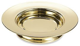 Communion Ware Brass (Solid Brass Stacking Bread Plate Solid Brass 10 1?4' Dia)