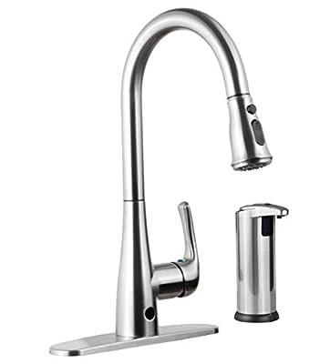Templeton Kitchen Faucet - Touch-Free Automatic Spray & Bonus Hands Free Soap Dispenser