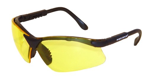 Radians Revelation Protective Shooting Glasses (Amber Yellow Lens/Black Frame) (Lens Shooting Glasses)