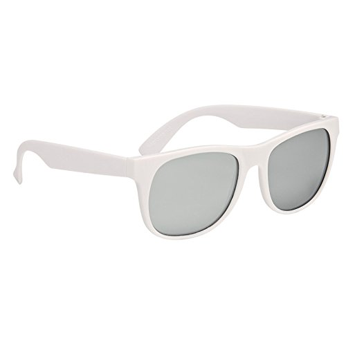 Multi-Colored Rubberized Mirrored Malibu Sunglasses by iPromo - 100 Quantity - $1.79 each - (Promotional Product/Custom Branded with your specific Logo) - Sunglasses Bulk Custom