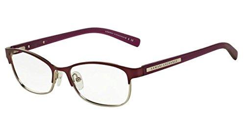 Armani Exchange AX 1010 Women's Eyeglasses Satin Berry Jam / Satin Silver - Exchange For Men Eyeglasses Armani