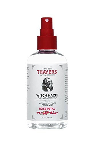 Toner Alcohol - Thayers Natural Remedies Alcohol-Free Rose Petal Witch Hazel Facial Mist Toner, 8 Ounce