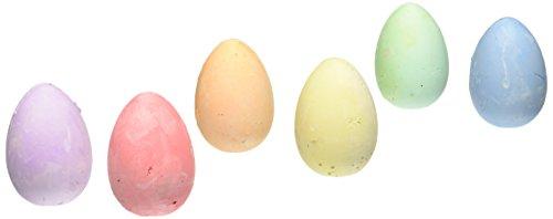 Easter Egg Sidewalk Chalk - 6 Pack (Shaped Chalk)