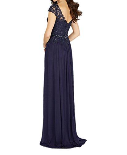 Blau Blau Ballkleider mia Perlen Navy Promkleider Elegant Abendkleider Partykleider La Lang Abschlussballkleider Braut mit Navy In6qwgnCf