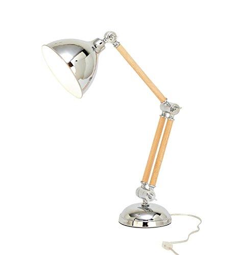 Benzara 50565 Trendy Wood Metal Table Lamp