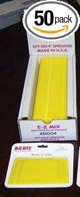 E-Z Mix 55004 4 Body Filler//Glaze Spreader 50 Pack