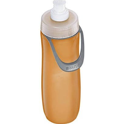 Icy-Hot Hydration V34001OR0 34 oz Solar Orange Vacuum Insulated Bottle - 3 Finger Grip Lid - Pack of 4 by Icy-Hot Hydration