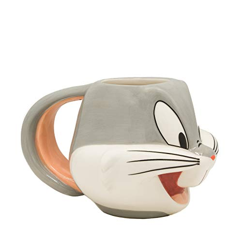 Silver Buffalo LT12273D Looney Tunes Bugs Face Ceramic for sale  Delivered anywhere in USA