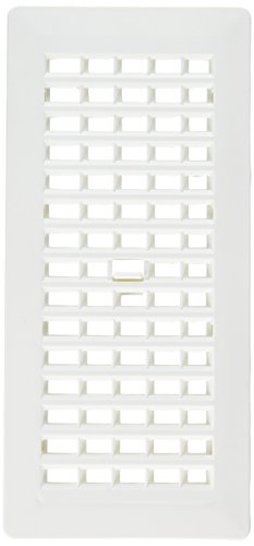(Decor Grates PL410-WH 4-Inch by 10-Inch Plastic Floor Register, White)