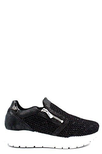 Igi&Co Chaussures Femmes Baskets Basses sans Lacets 1156633 Noir Black