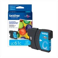 Brother LC61C Ink Cartridge, 325 Page-Yield, Cyan (Brother Printer Ink Lc61)